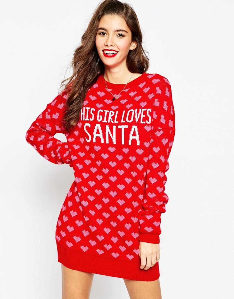 'This Girl Loves Santa' Jumper Dress